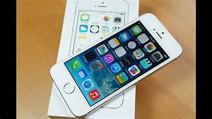 Silver  White Iphone 5s Unboxing And Hands On
