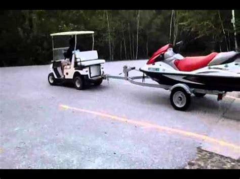 golf cart towing kawasaki stx  youtube