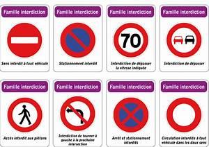 Panneau De Signalisation Code De La Route : jeu des 5 familles de panneaux de signalisation routi re famille interdiction ~ Medecine-chirurgie-esthetiques.com Avis de Voitures