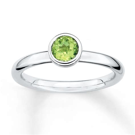 stackable peridot ring sterling silver  jared