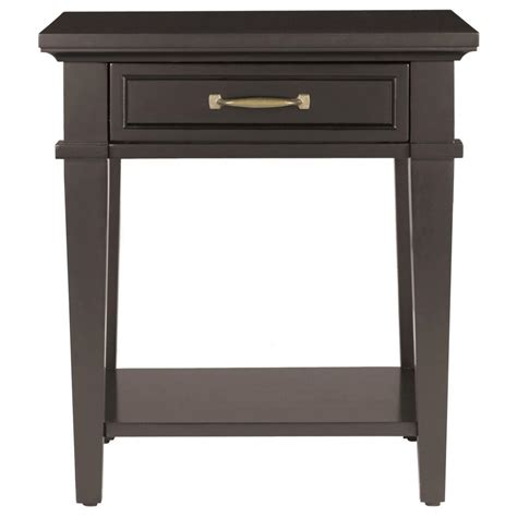 black end tables with storage kenroy home westerly black end table 65041bl the home depot