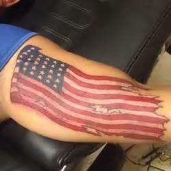 Waving American Flag Tattoo