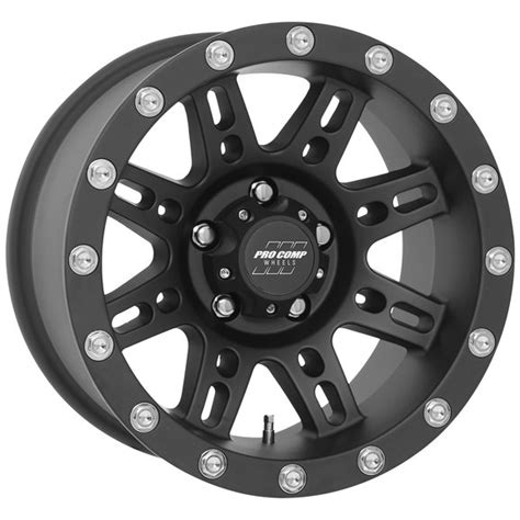 pro comp series  wheel  black    jeep wrangler