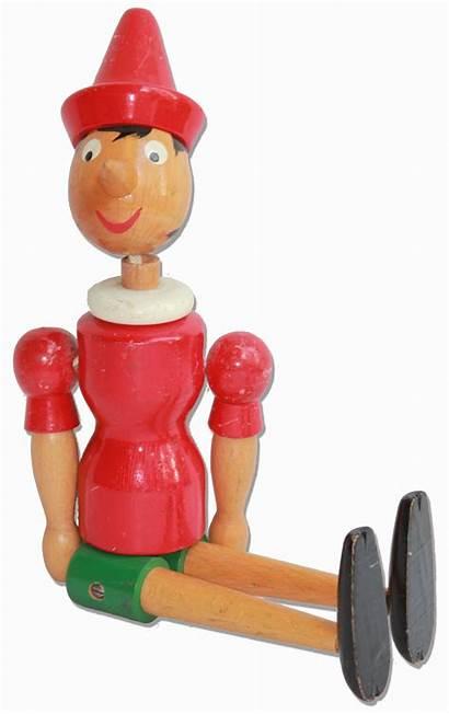 Pinocchio Doll Wooden Kangaroo Captain Arms
