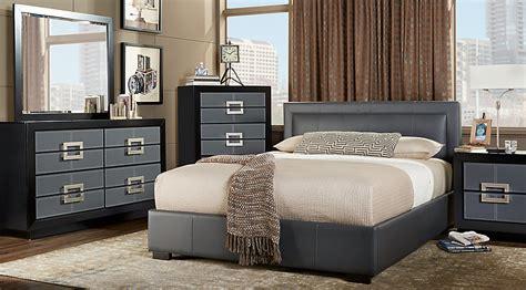 city view gray 7 pc upholstered bedroom