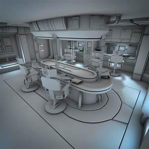 Spacecraft, Interior, Hd, 2, 3d, Model, Obj, Fbx, Lwo, Lw, Lws, Blend