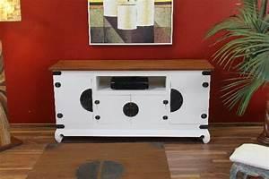 Tv Schrank Weiß Holz : sideboard tv hifi schrank holz bronze wei braun kolonialstil ~ Bigdaddyawards.com Haus und Dekorationen