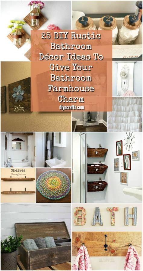 25 DIY Rustic Bathroom Décor Ideas To Give Your Bathroom
