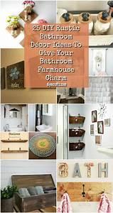 25, Diy, Rustic, Bathroom, D, U00e9cor, Ideas, To, Give, Your, Bathroom