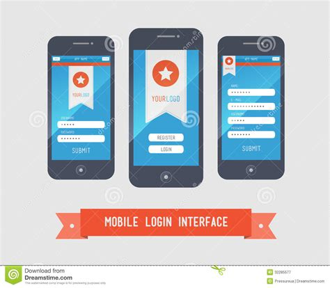 the state of the modern smartphone user interface tested mobile login interface form royalty free stock photography