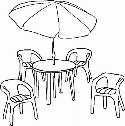 Furniture Patio Coloring Pages