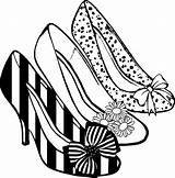 Heel Coloring Shoes Clipart Clip sketch template