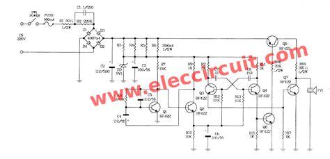 Siren Circuit Using Transistors Eleccircuit