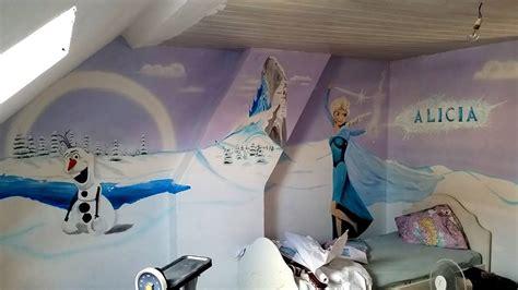 chambre de la reine des neiges chambre de filles sur le th 232 me de la reine des neiges