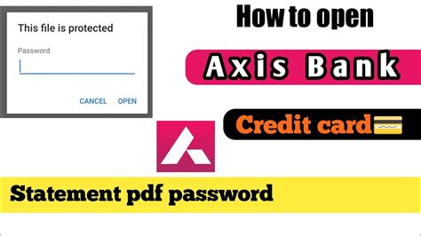Check spelling or type a new query. how to open axis bank credit card statement Pdf password - YouTube