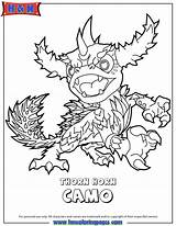 Skylanders Coloring Pages Force Swap Skylander Camo Thorn Library Horn Printable Sheets Clipart Zap Christmas Wrecking Ball Trigger Bang Happy sketch template