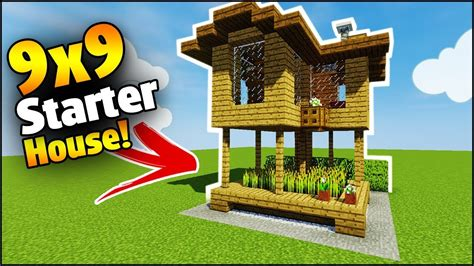 minecraft  starter house tutorial   build  house  minecraft youtube