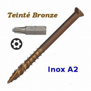 Vis Autoforeuse Inox : vis pour terrasse exterieure en bois inox a2 teint ~ Edinachiropracticcenter.com Idées de Décoration