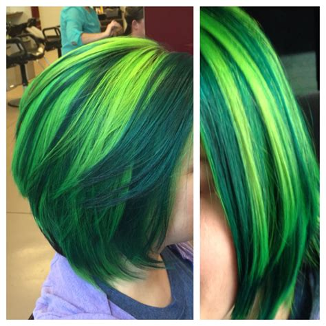 Pravana Neon Blue And Neon Yellow Mixed Together To Make
