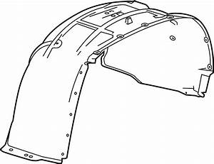 Chevrolet Tahoe Fender Splash Shield  Front   Suburban  W