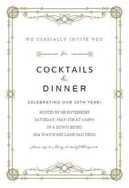 classic border  printable party invitation template