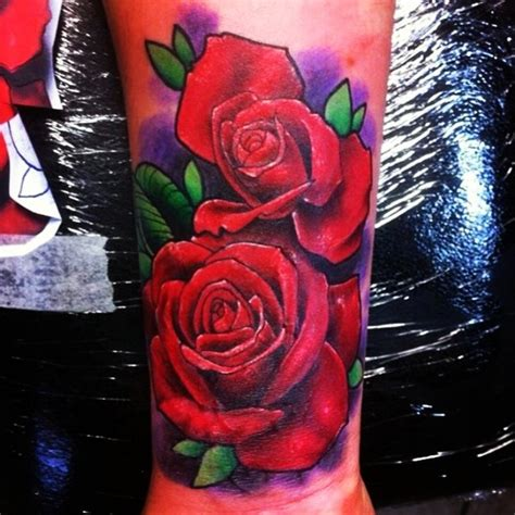 tattoo flower rose color uncategorized tattoos  tats