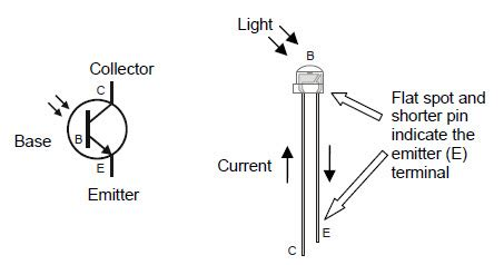 Introducing The Phototransistor Learn Parallax