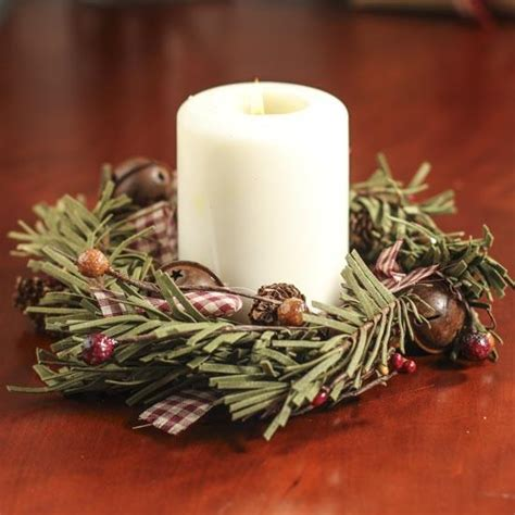 rustic winter candle ring holiday florals christmas