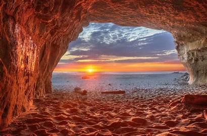 Cave Sunset Beach California San Gregorio Nature
