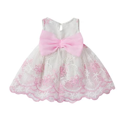 Elegant Baby Girl Dress Summer Party Princess Tutu infant Dress for Newborn 1 year Birthday ...