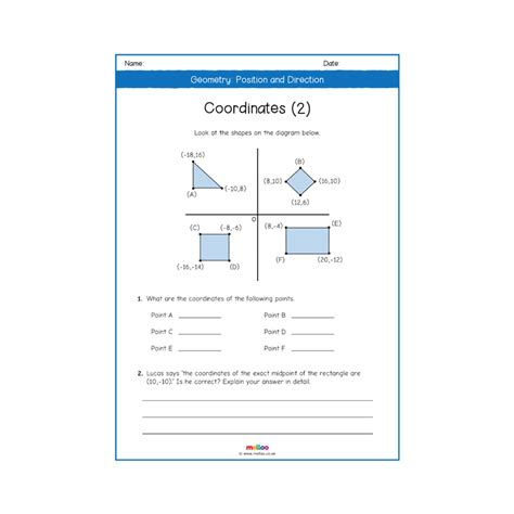 geometry position and direction year 6 worksheets maths ks2 melloo