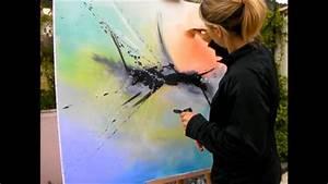 Comment Faire Du Kaki Avec De La Peinture : comment faire une peinture abstraite acrylique ~ Zukunftsfamilie.com Idées de Décoration