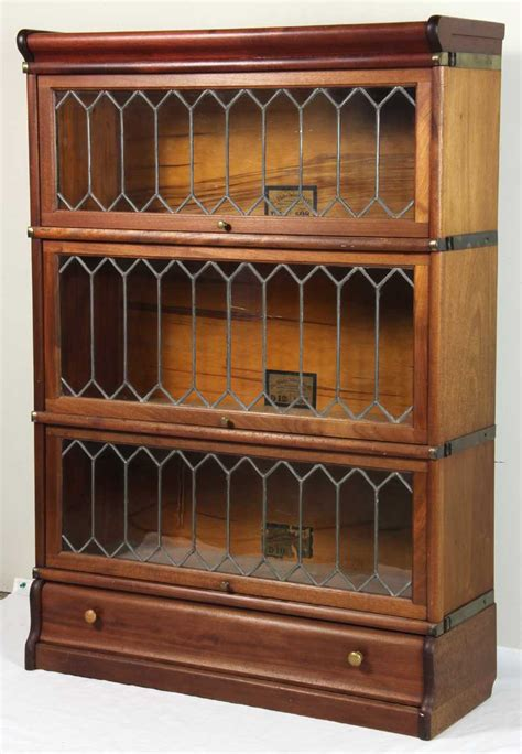 Bookcase Company by The Globe Wernicke Co Mahogany Stacking Bookcases