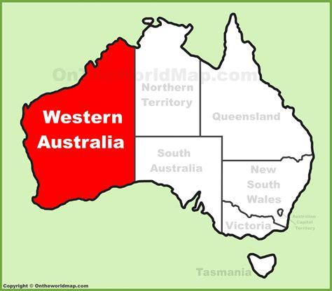 western australia location   australia map