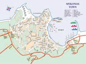 Mykonos Town Map
