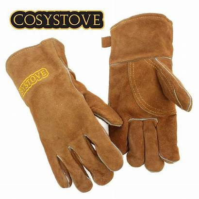 Gloves Stove Fire Resistant Heat Log Gauntlets