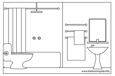comfort room clipart black and white the learning site