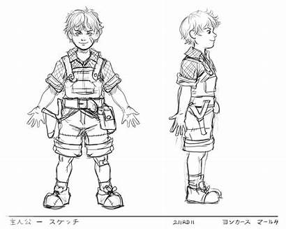 Character Class Sketches Rough Boy Story Young
