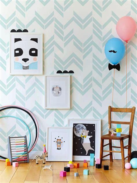 papier peint chambre bébé mixte stickers chambre bébé idées inspirations tendances