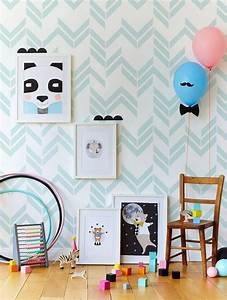 stickers chambre bebe idees inspirations tendances With chambre bebe papier peint
