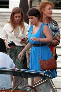 Sarah Duchess of York with Eugenie and Beatrice