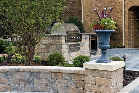 unilock retaining walls retaining wall benson co rockford il
