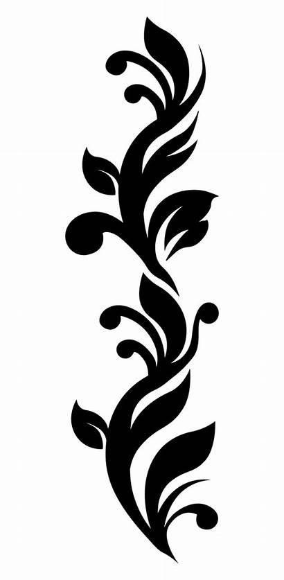 Batik Gambar Floral Bunga Pattern Stiker Hitam