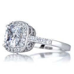 wedding ring cuts halo ring cushion cut cz halo rings