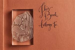 calligraphy bookplate rubber stamp 2250 via km With calligraphy letter rubber stamps
