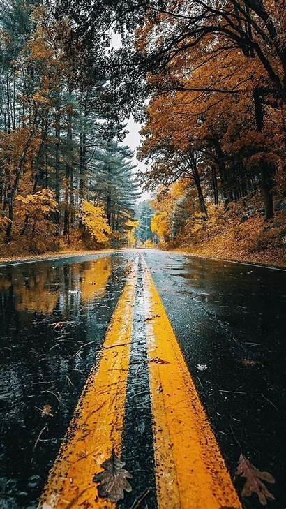 Rainy Fall Phone Autumn Storm Travel Note
