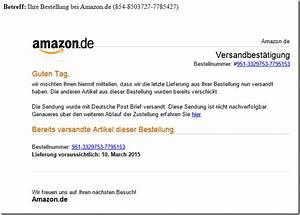 Amazon Bestellung Auf Rechnung : virus warnung vor e mails mit ihre bestellung bei amazon ~ Themetempest.com Abrechnung