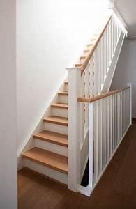 peindre escalier en bois en blanc naturel With repeindre un escalier en blanc