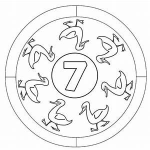 Kostenlose Malvorlage Mandalas Zahlen Lernen 7 Zum Ausmalen