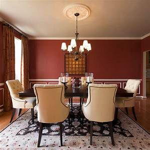 how to create a sensational dining room with red panache With red dining room wall decor